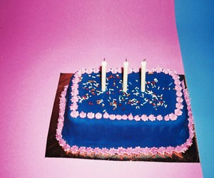 blue, cake, and pink image