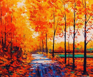 autumn, fall, and painting image