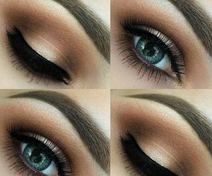 makeup, eyes, and beauty image