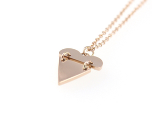 heart, jewellery, and rose gold image