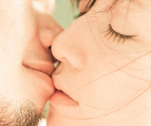 couple, friendship, and kiss image