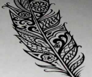feather, tattoo, and black image