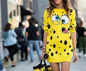 fashion, Moschino, and yellow image