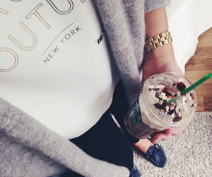 outfit, starbucks, and fashion image