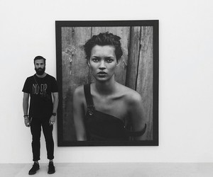 black and white, kate moss, and model image