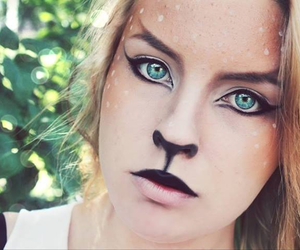 animal, beautiful, and makeup image