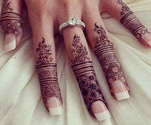 henna, nails, and ring image