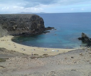 beach, lanzarote, and meer image
