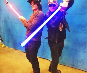 lightsaber, norman reedus, and star wars image