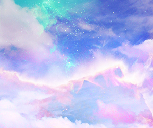 background, galaxy, and pastel image