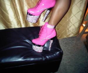 diamond, girl, and heels image