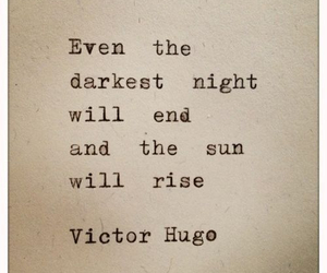 quotes, victor hugo, and sun image