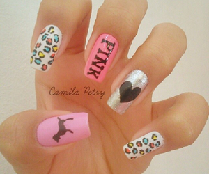 nails, nailart, and pink image