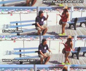 drunk, jersey shore, and lol image