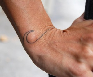 tattoo, waves, and hand image