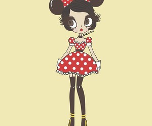 art, cartoon, and minnie mouse image