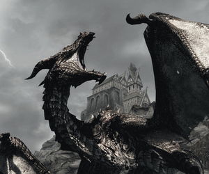 dragon and skyrim image