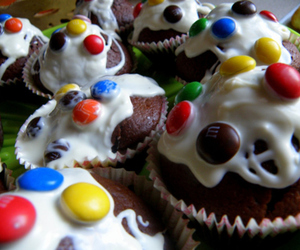 sweet, cake, and m&ms image