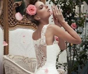 bride, flowers, and elegant image