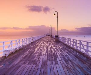 sunset, beach, and sky image