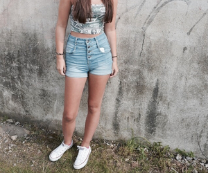 converse, outfit, and summer image