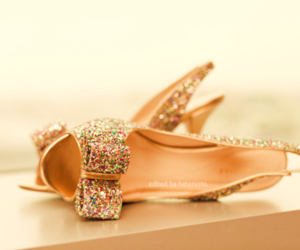 bow, heels, and shoes image