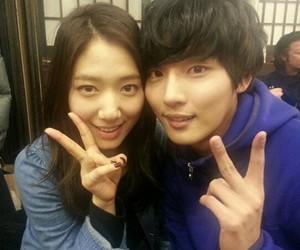 park shin hye, yoon shi yoon, and flower boy next door image