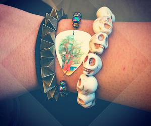 bracelets, jewelry, and spikes image