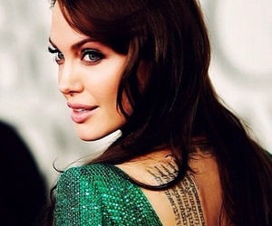 Angelina Jolie and tattoo image