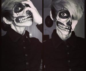 boy, emo, and Halloween image