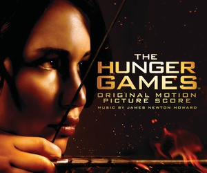 bow and arrow, katniss, and hunger games image