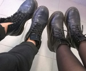 black, clothes, and doc martens image