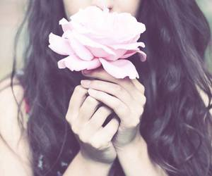 flower, simplicity, and girl image