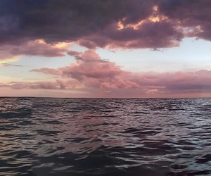 sea, ocean, and clouds image