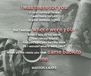alone, Lyrics, and maps image