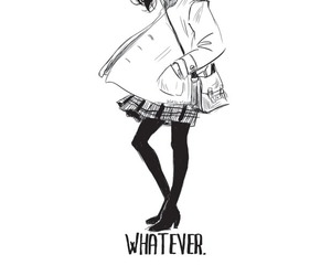 girl, whatever, and art image