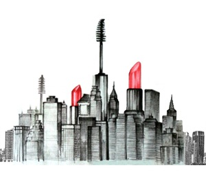 city, makeup, and lipstick image