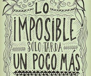 frases, impossible, and quote image