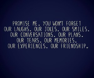 quote, friendship, and promise image