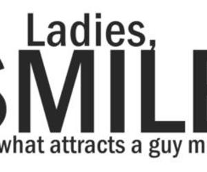 smile, quote, and lady image