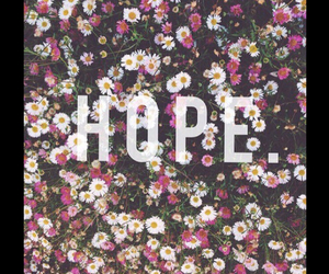 flowers, hope, and quote image