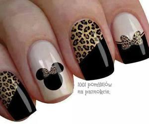 black, cheetah, and nail image