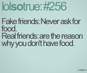 food, funny, and friends image
