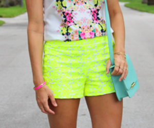 superb, bright yellow, and cute neon shorts image
