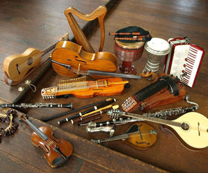 cool, instrument, and music image