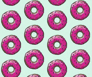 background, donut, and pink and blue image