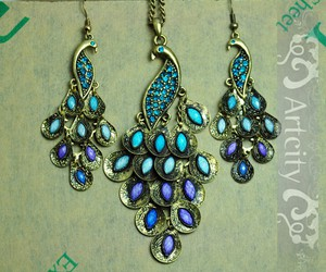 blue, girly, and peacock image