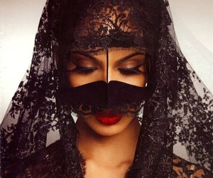 arabic, black, and lace image
