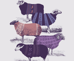 sheep, art, and sweater image
