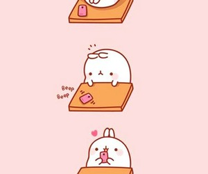 cute, love, and bunny image